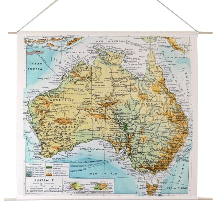 map of australia wall hanging
